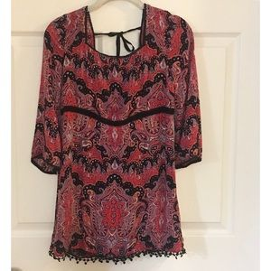 💍Free people tunic red and black